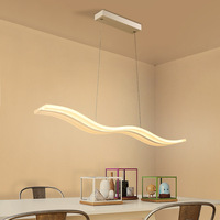 Creative Modern Acrylic Wave LED Chandelier Restaurant Bedroom Study Aisle Chandelier Office & Commercial Place Lighting fixture
