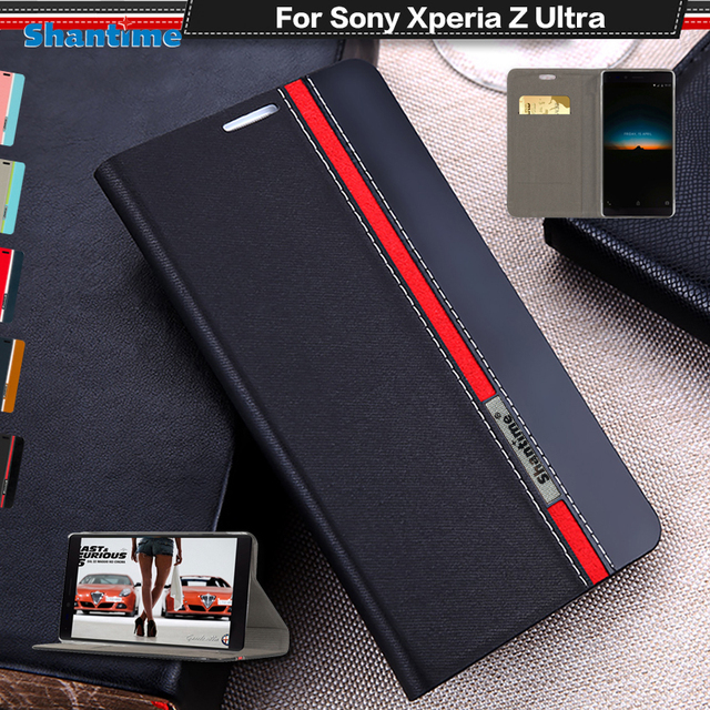 low priced 60052 a8759 US $4.99 |Pu Leather Phone Case For Sony Xperia Z Ultra Flip Case For Sony  Xperia Z Ultra 6.44