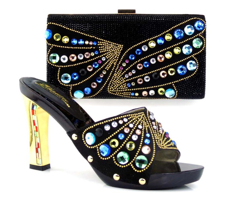 ФОТО TH26-38 lastFree Shipping DHL Italian Design Woman Matching Shoe And Bag Set High Quality Slipper For Wholesale heel