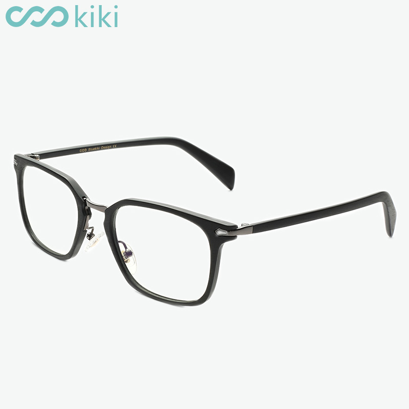 KIKI Women Men Prescription Glasses Frame Anti-Blue Rays Rectangle Eyeglasses Spectacle Frame Myopia Glasses 1.56 1.61 1.67