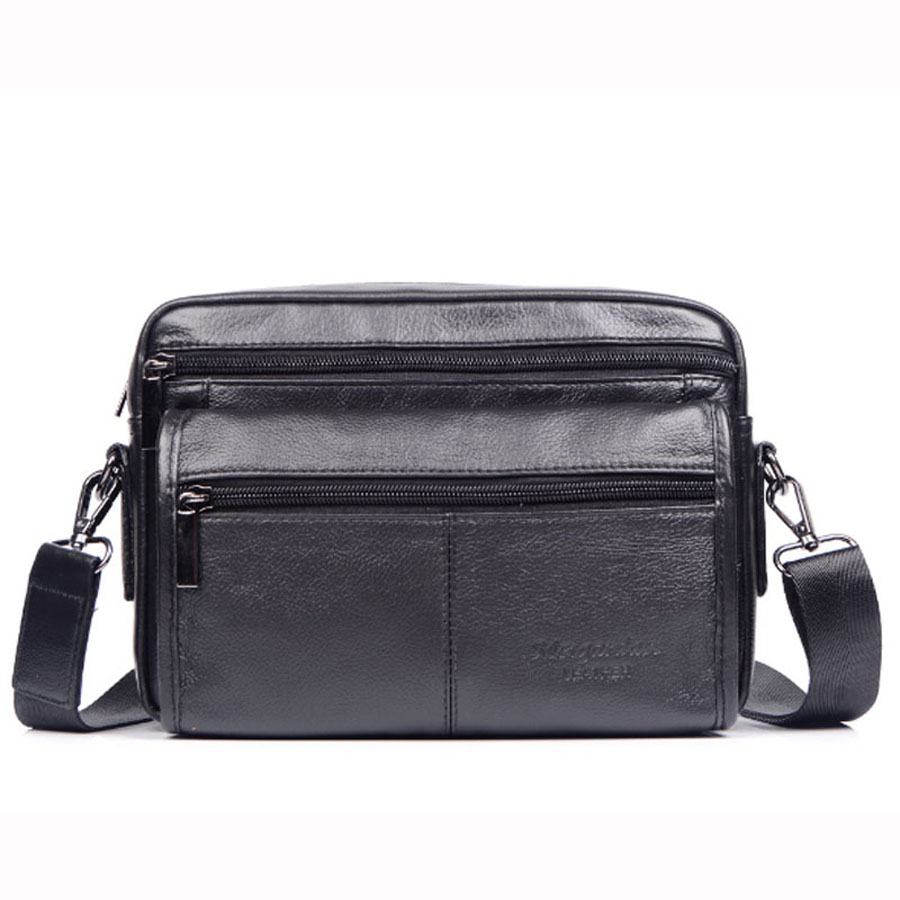 Top Quality Men Genuine Leather First Layer Cowhide Messenger Shoulder bag Business Bag Vintage Casual Travel Bags premium top layer cowhide genuine leather men messenger bag unicalling brand fashion style leather men bags business casual bag