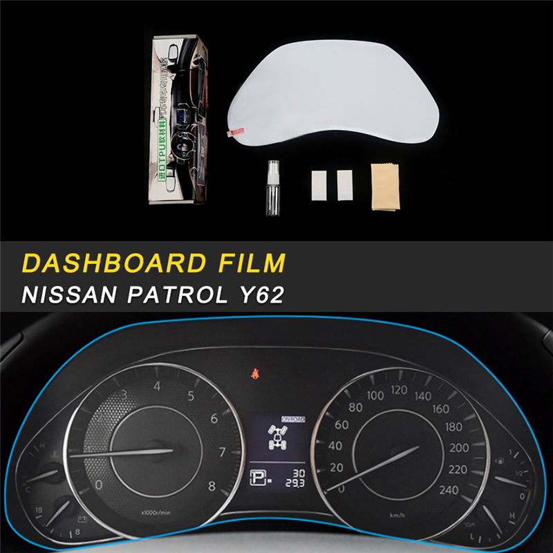 US $34 6 |Dashboard Monitor Screen Protector Film Cover Trim Sticker  Interior Accessories for Nissan Patrol Y62 Car Styling-in Automotive  Interior