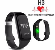 H3 смарт-группа браслет монитор сердечного ритма водонепроницаемый вызова тревоги браслет спорт фитнес-трекер smartband для iphone android ios