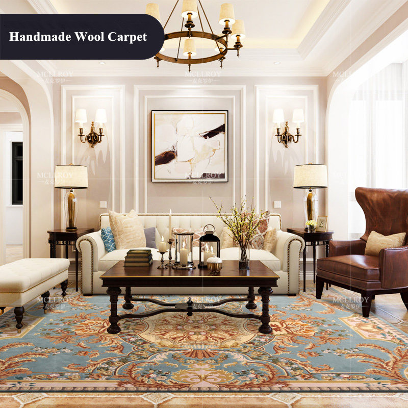 Imported Wool Carpet Living Room Hand Carved Carpet Bedroom Sofa Coffee Rugs 1