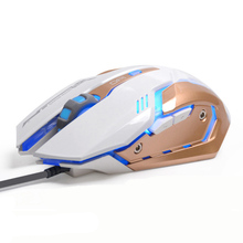 Professional  Adjustable 3200DPI 6 Buttons USB Optical Wired Gaming Mouse Mice Game Mouse for Laptop PC Desktop for Pro Gamer