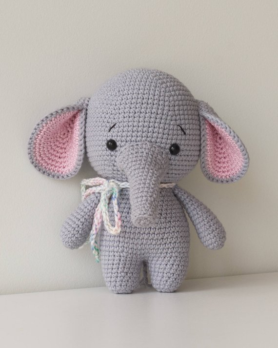 цена на crochet toys amigurumi lovely elephant