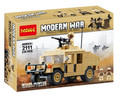 Decool 2111 building block Modern War U.S. Military M1025 Humvee HMMWV Armament Cargo Troop Vehicle Compatible with Legoe