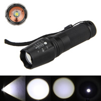 Free Shipping7W 7 Modes XML T6 2000lm LED Zoomable Flashlight Light Torch For AAA Or 18650