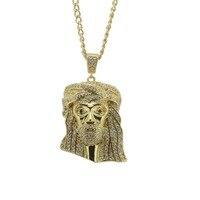 Gorąca Sprzedaż Hip Hop Długi Naszyjnik Jezus Wysokiej jakości Kryształ Micro Pave CZ Wisiorek Biżuteria Naszyjnik fit Mężczyzn