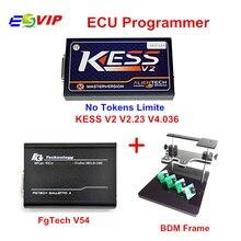 Best OBD2 Manager Tuning Kit KESS V2 V2.32 V4.036 No Tokens Limiation + FgTech V54 Galletto Fg tech V54 + BDM Frame  DHL Free