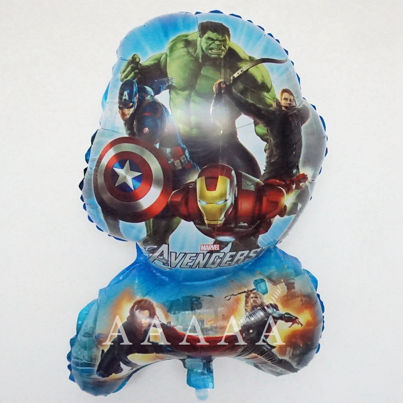 (2pcs/lot)big the Avengers balloons cartoon movie Captain America superhero balo