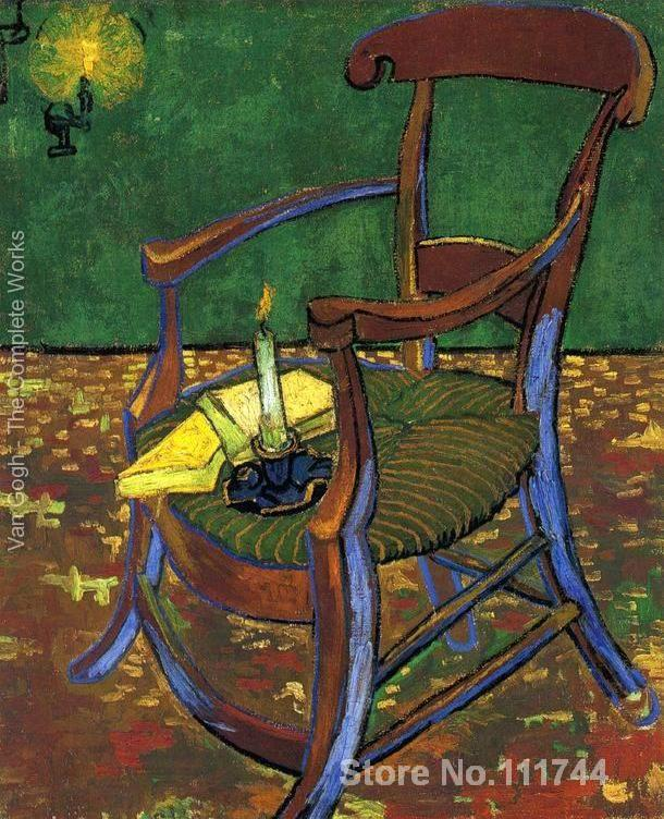 Hand painted art on canvas Gauguins Chair Vincent Van Gogh painting for sale High quality