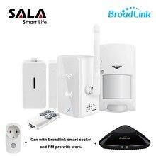 Broadlink S1/S1C SmartOne Chuyển Động PIR Cửa Báo Động và An Ninh Kit, RM Pro + Nhà Thông Minh Hệ Thống Báo Động IOS ANdroid Điều Khiển Từ Xa SP3