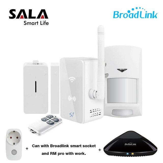 Broadlink S1/S1C SmartOne תנועת PIR דלת מעורר וביטחון ערכת, RM פרו + חכם בית מעורר מערכת IOS אנדרואיד שלט רחוק SP3