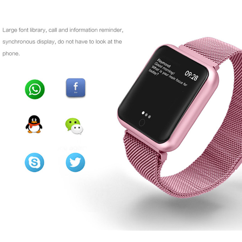 P68 Smart Watch Men Women 2019 Blood Pressure Blood Oxygen Heart Rate Monitor Sports Tracker Smartwatch IP68 Connect IOS Android 3