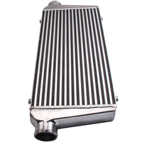 Universal Front Mount Intercooler Bar and Plate 600x300x76mm 3 inch In/outlet Aluminum alloy Inter cooler