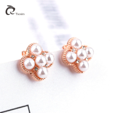 Elegant Pearl Clip Earrings Jewelry Alloy Gold White Pearl Design Earrings For Women Fashion Wedding Party Jewelry Ear Clip a suit of elegant faux gem white gold plating alloy flower shape necklace and earrings for women