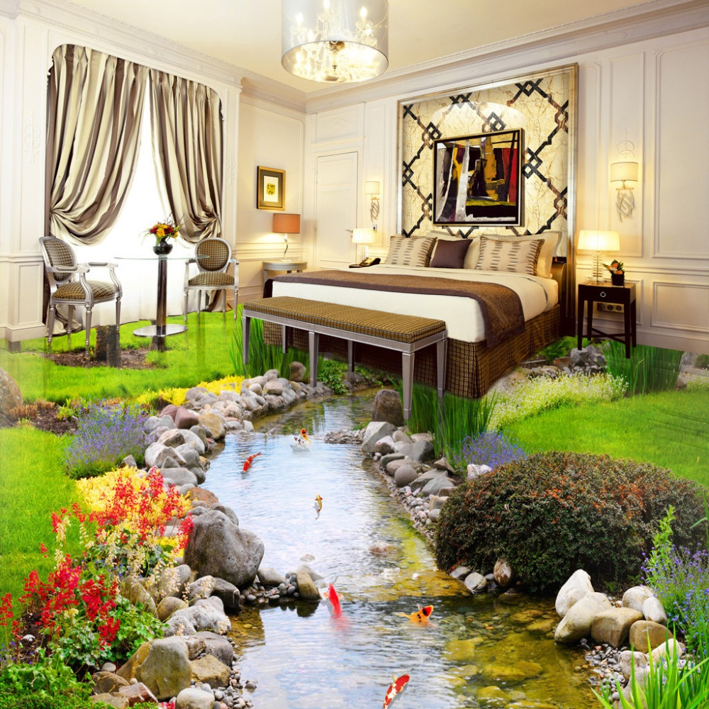Buy custom photo 3d wallpaper new designs for 3d murals for sale