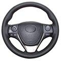 Black Artificial Leather Car Steering Wheel Cover for Toyota RAV4 2013-2016 Toyota Corolla 2014-2016 Scion iM 2016
