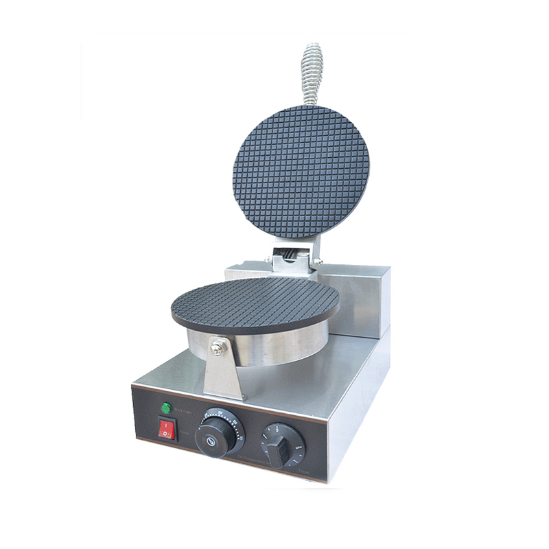 110V 220V Commercial Electric Waffle Maker Non-stick Single Plate Ice Cream Cone Maker Machine EU/US/BS/AU Plug stainless steel electric ice shavers crusher chopper ice slush maker icecream snow cone ice block breaking machine eu us plug