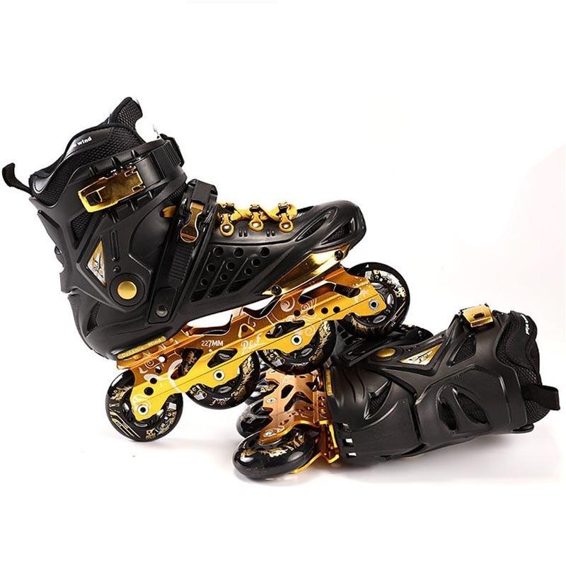 Adult Inline Skates Professional Slalom Roller Skating Shoes Sliding Free Skating Good As SEBA Patines 85A Wheels DLF F7 IA25