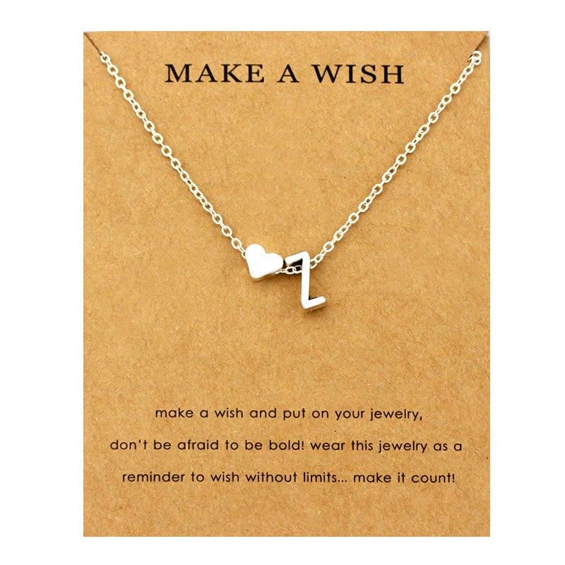 Сердце начальные Подвески ожерелье s персонализированное ожерелье с буквами Имя ювелирные изделия для женщин мужчин аксессуары подруги любовника пара подарок - Окраска металла: NE1680