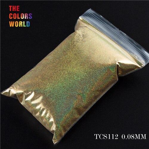 TCT-070 голографическая цветная устойчивая к растворению блестящая пудра для дизайна ногтей Гель-лак для ногтей тени для макияжа - Цвет: TCS112  200g