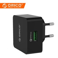 ORICO телефон зарядное устройство Quick Charge QTW-1U QC3.0 18 Вт быстрый USB зарядное устройство для iPhone samsung Xiaomi huawei с 1 м Бесплатная Micro USB кабель