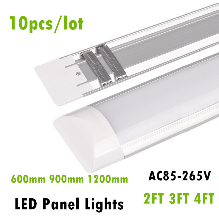 New LED Panel Lights 2FT 3FT 4FT 20W 30W 40W LED Surface Mounted Ceiling Lamps Purification lights T5 T8 Tube Light AC85-265V usb3 0 round type panel mounting usb connecter silver surface