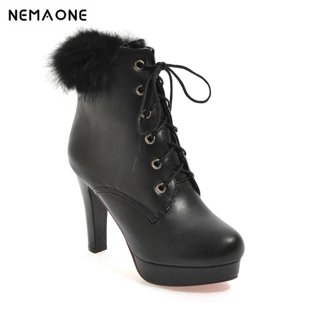 2019 new women super high heels 10cm boots Ladies' shoes suitable for a casual dinner party it`s black white pink it s a party dress короткое платье