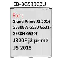 Battery EB-BG530CBE EB-BG531BBE for Samsung Galaxy Grand Prime J3 2016 J320F j2 prime G5308W G530 G530H G531F J5 2015