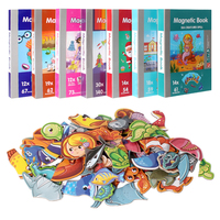 Christmas Gift for Kids Magnetic Book Magnetic Puzzle Cute Design Puzzles Magnetic Toy Jigsaw Baby Toys Learning Spell|Puzzles|   -