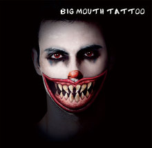 #HBM09 Man And Women Horror Sharp Teeth Makeup Temporary Tattoo For Makeup Party Body Sticker