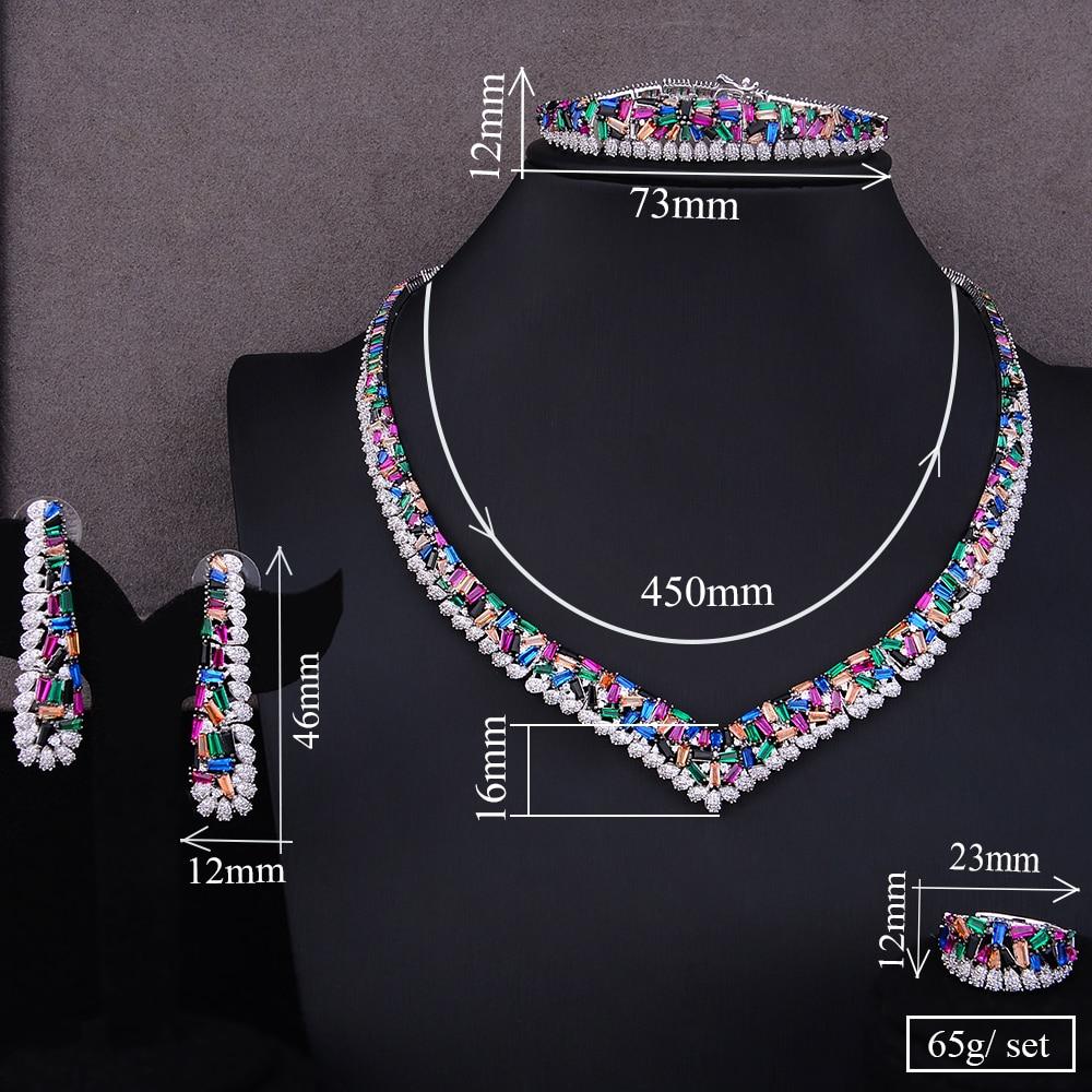 GODKI Famous Brand Charms Luxury 4pcs Satement Nigerian Dubai Jewelry Sets For Women CZ Zircon Wedding Bridal Jewelry Sets 2019