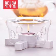 glass teapot warmer stove Tea coffee Warmer  Handmade Mixed Heat Resistant