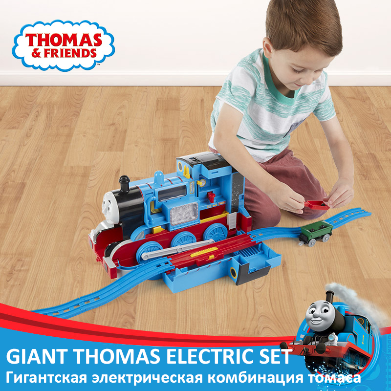 Original Thomas And Friends Large Multi purpose Station Track Set Electric Locomotive Boy Toy Gift Toys