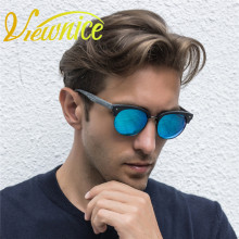 Viewnice Branded sunglasses Wooden Polaroid Sunglasses Woman Designer 2017 Women HD polarized Male Sunglasses Metal UV400 V08