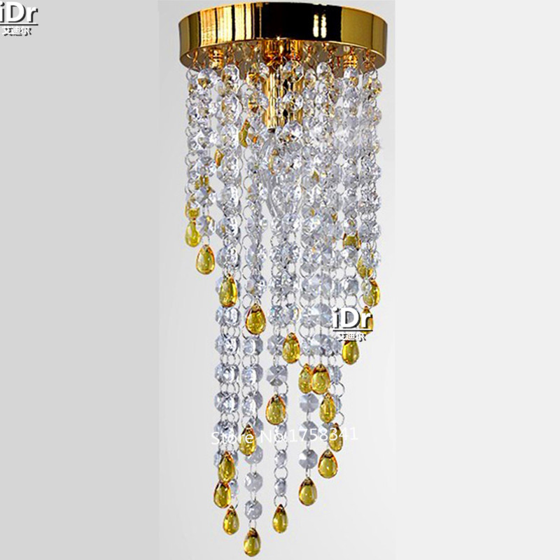 Lustre en cristal moderne balcon cristal lumière de noël chambre lampe Hall lampe de luxe couloir lumières livraison gratuite