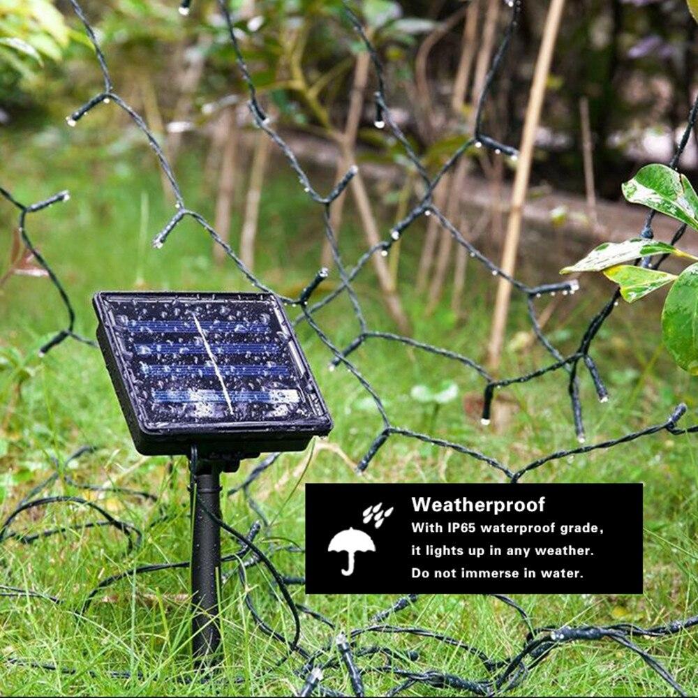 Luces solares de cadena LED Al aire libre, a prueba de agua de hadas, - Iluminación exterior - foto 5
