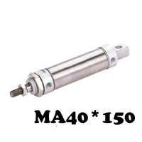 MA 40*150 mini cilindro de acero inoxidable de alta calidad 40mm de diámetro sola barra de acero inoxidable neumático cilindro de aire