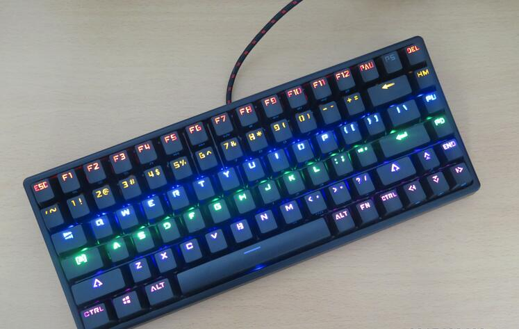 Compact black keycool 84 mini backlight LED mechanical keyboard kailh mx blue brown game keyboards ANSI mechanical keys