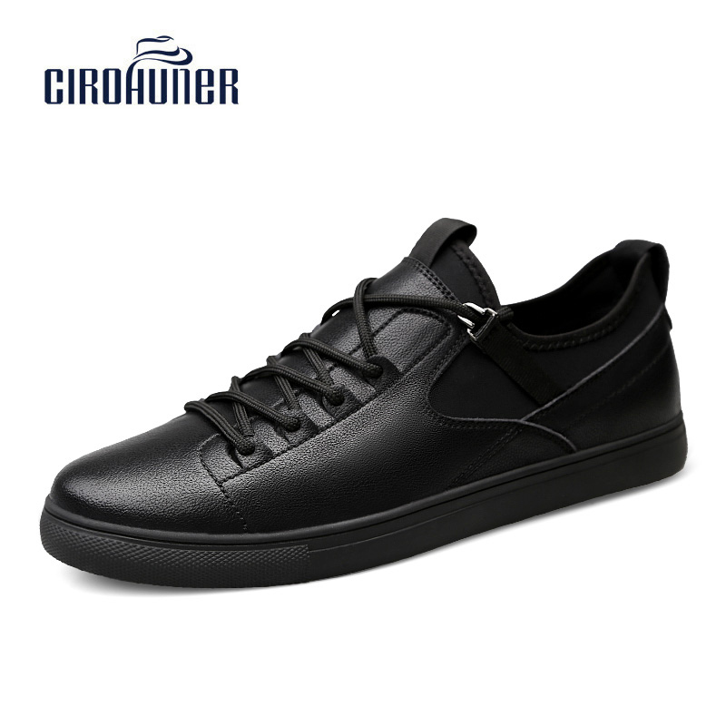 CIROHUNER Brand Winter Big Sizes Leather Fashion Men Shoes Handmade High Quality Men Casual Black Lace Up Men Shoes 2017 simple common projects breathable lace up handmade leather shoes casual leather shoes party shoes men winter shoes