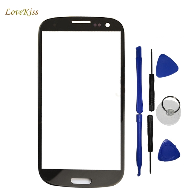 Lovekiss Front Panel Lens For Samsung Galaxy S III S3 GT-I9300 I9300 Case Touch Screen Sensor Glass LCD Display Outer Glass