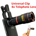 Apexel Universal 8x lente Zoom óptico del telescopio para el teléfono móvil ancho 4.2 cm - 6.8 cm lente del teléfono celular para el Iphone Samsung CL-19B