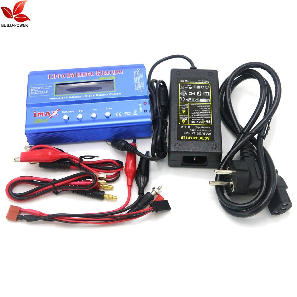 IMAX B6 цифровой RC Lipo NiMh батарея баланс зарядное устройство+ AC мощность 12 в 5A адаптер Прямая поставка