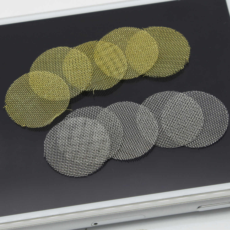 50/100/500 pcs 20mm 금속 파이프 스크린 담배 물 파이프 물 담뱃대 shisha 연기 파이프 허브 분쇄기 유리 물 담뱃대 파이프 액세서리