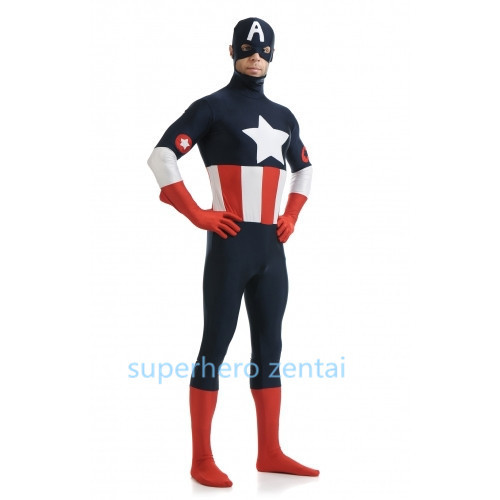 Captain America Costume New Spandex Superhero Costume Party Show Zentai Suit Hot Sale Adult Suit Can Custom Free Shipping