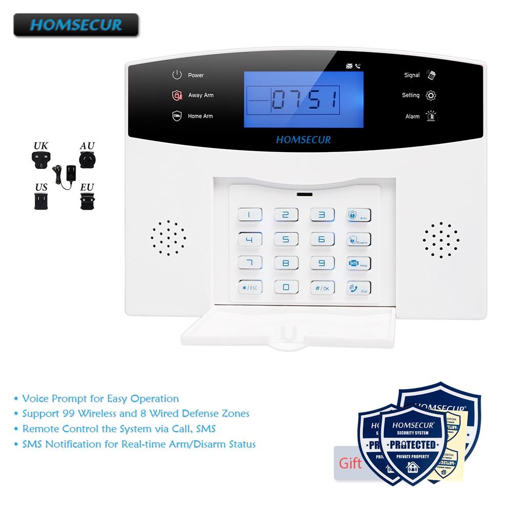HOMSECUR Wireless 433Mhz GSM 850//900//1800//1900 Burglar Intruder Alarm System