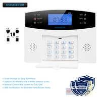 HOMSECUR DIY GSM Alarm System for Home Security(Alarm Panel LA01,PIR Motion Sensor,Smoke Sensor,Flash Strobe Siren etc.Optional)