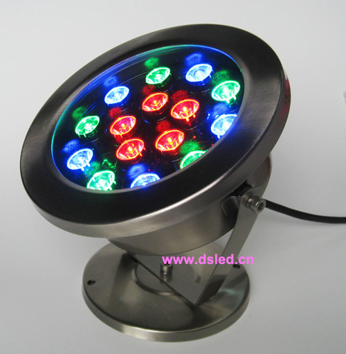good quality,IP68, High power 15W RGB LED pool light,15X1W, RGB, 24V DC,stainless steel fitting,DMX compitable